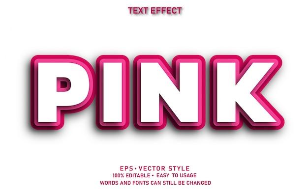 Papier effet texte modifiable rose