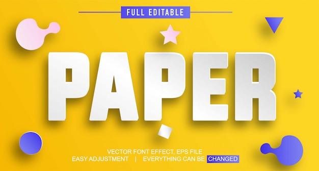 Papier, effet de texte d'ombre de style papier
