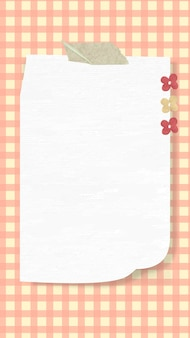 Papier esthétique note fond d'écran vecteur