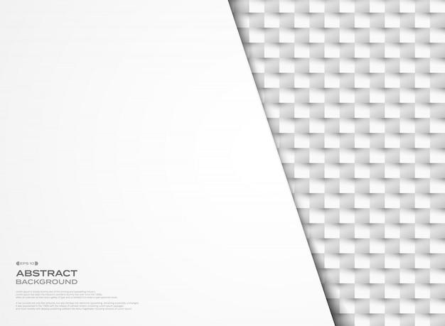 Papier géométrique gris abstract vector coupé arrière-plan de conception de mosaïque.