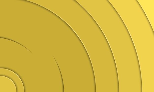 Papier jaune abstrait coupé dans un style courbe avec une ombre. conception intelligente pour la promotion de l'université.
