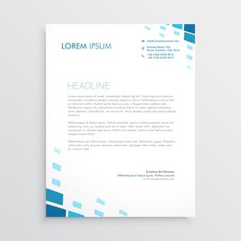 Papier à lettre propre avec des formes abstraites bleues
