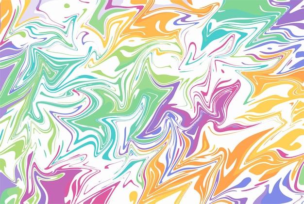 Papier marbré pour couvertures de livres ou papiers peints dessin vectoriel à la peinture fluide abstrait coloré