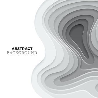 Papier moderne coupé la conception de fond. élément de papier origami abstrait monochrome