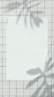 Papier note fond d'écran vecteur sur l'ombre de la feuille esthétique