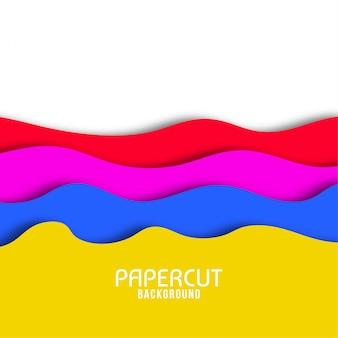 Papier ondulé abstraite coupé fond élégant