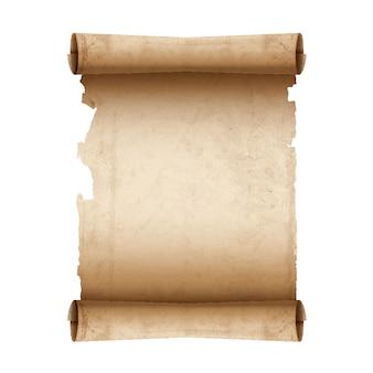 Papier parchemin ancien