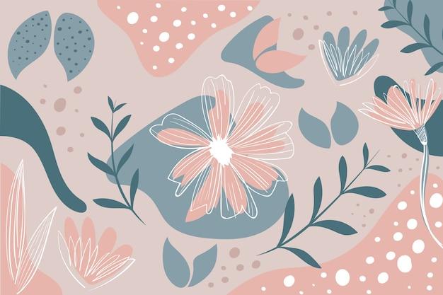 Papier peint abstrait dessiné à la main avec des formes organiques