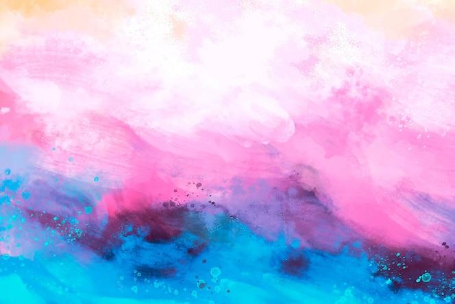 Papier peint abstrait peint à la main coloré