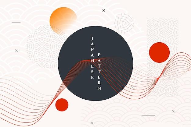 Papier peint abstrait de style japonais géométrique