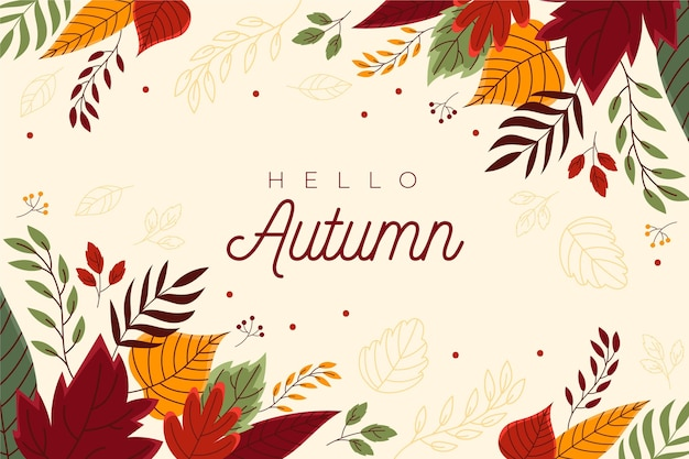 Papier peint automne dessiné à la main