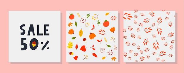 Papier peint automne, textile, décoration, texture, forêt, impression, motif