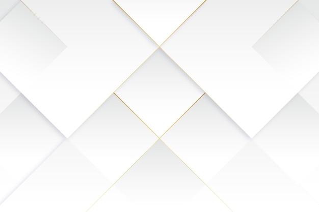 Papier peint blanc élégant avec des détails dorés