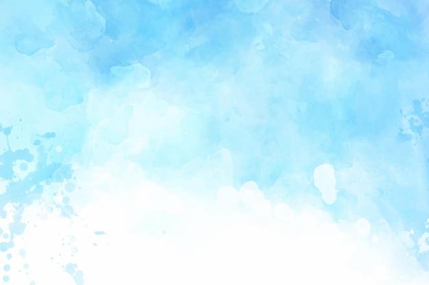 Papier peint bleu abstrait peint à la main à l'aquarelle