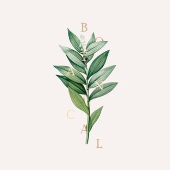 Papier peint botanique