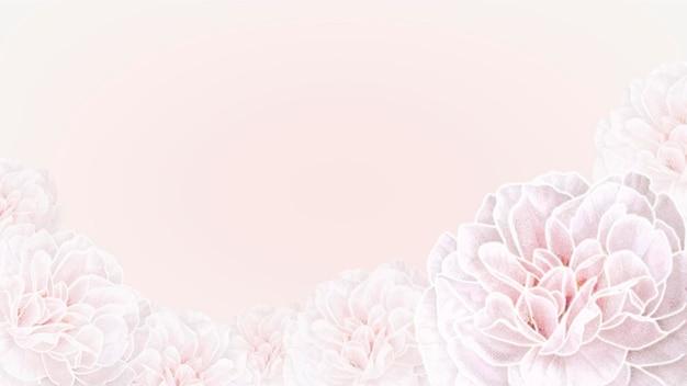 Papier peint à cadre floral en fleurs