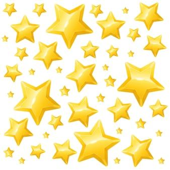 Papier peint ou carte de fond d'étoile d'or. illustration vectorielle