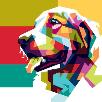 Papier peint chien coloré