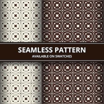Papier peint classique de fond sans couture batik traditionnel. forme géométrique élégante. toile de fond ethnique de luxe en couleur marron