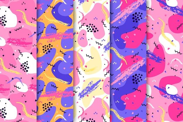 Papier peint avec collection de motifs colorés