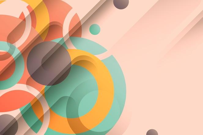 Papier peint coloré avec des formes géométriques