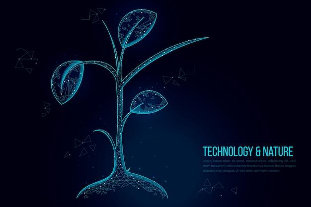 Papier peint concept d'écologie technologique