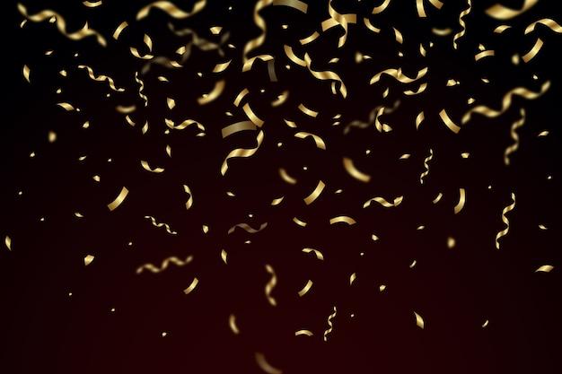 Papier peint confettis réaliste