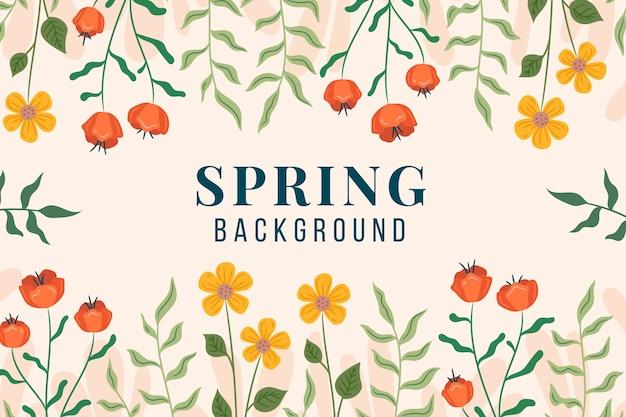 Papier peint décoratif de printemps avec des fleurs