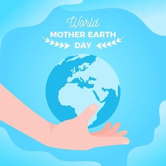 Papier peint design plat de la fête des mères