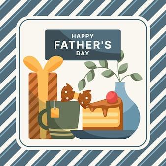 Papier peint design plat fête des pères