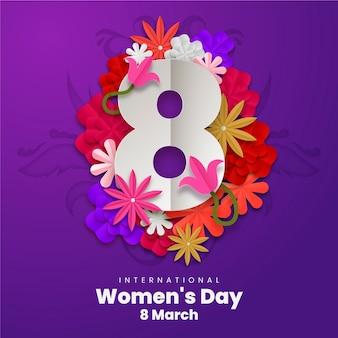 Papier peint du jour des femmes dans le style du papier