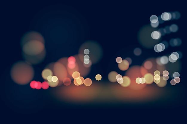 Papier peint effet bokeh lights