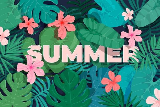 Papier peint d'été coloré