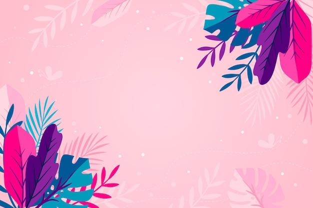 Papier peint d'été multicolore