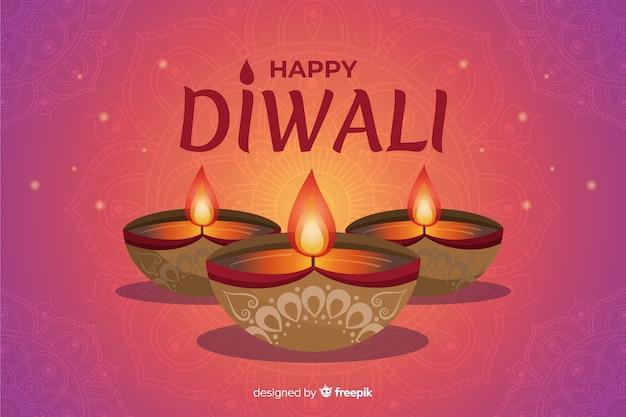 Papier peint festival de diwali dessiné à la main