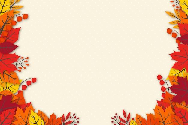 Papier peint feuilles d'automne dessinés à la main