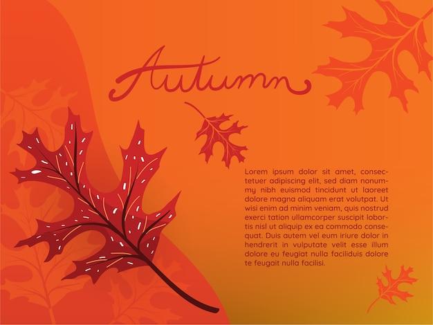 Papier peint feuilles de chêne noir d'automne