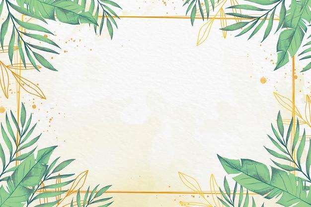 Papier peint feuilles avec thème feuille métallique