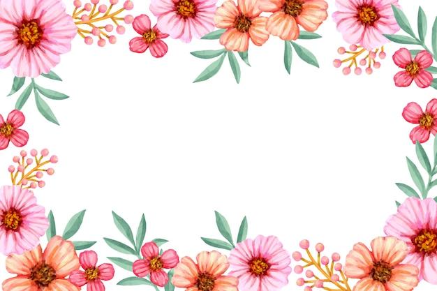 Papier peint à fleurs aux couleurs pastel