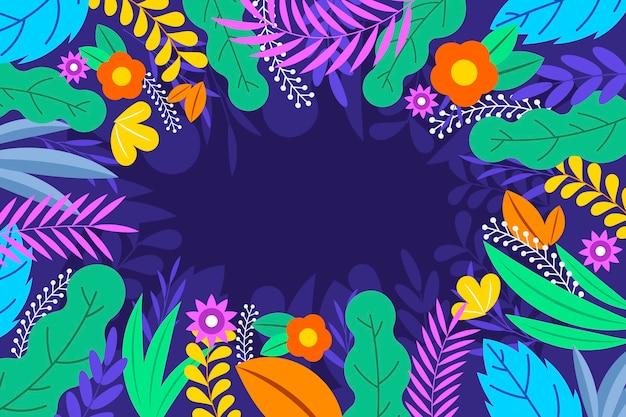 Papier peint floral abstrait design plat