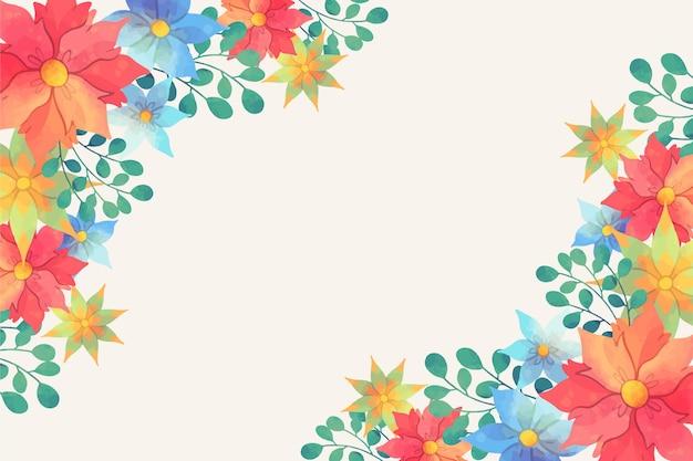 Papier peint floral aquarelle