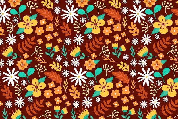 Papier peint floral coloré ditsy