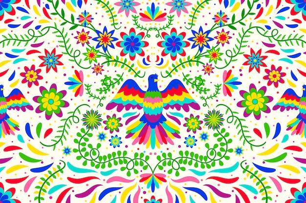Papier peint floral mexicain