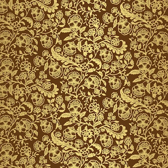 Papier peint floral ornemental de luxe