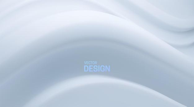 Papier peint avec une forme ondulée blanche douce