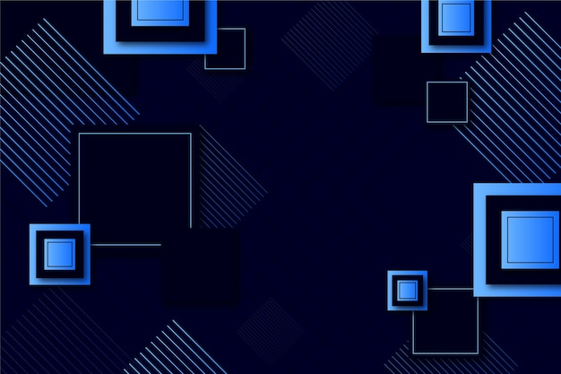 Papier peint formes géométriques dégradées