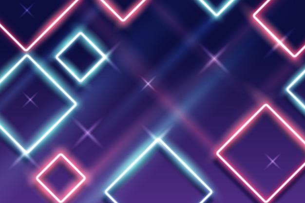Papier peint formes géométriques néon