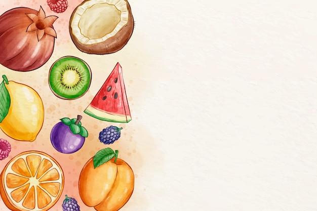 Papier peint fruits et légumes