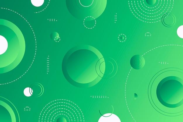 Papier peint géométrique abstrait vert