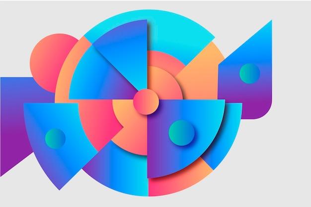 Papier peint géométrique dégradé